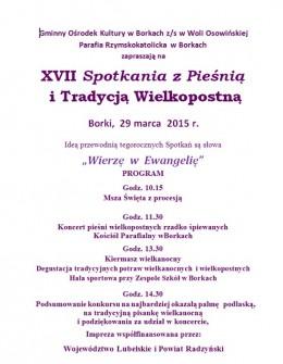 Zaproszenie na XVII Spotkanie z Pieśnią i Tradycją Wielkopostną