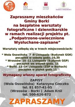 Warsztaty fotograficzne i dziennikarskie