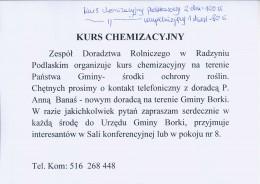 Kurs Chemizacyjny