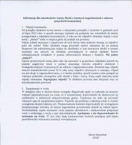 Informacja ZGK Borki dla mieszkańców