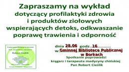 Zaproszenie na spotkanie dotyczące profilaktyki zdrowia