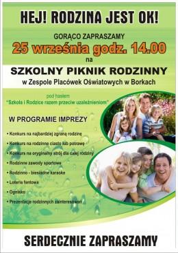 Zapraszamy na Piknik Rodzinny w niedzielę 25 września 2016 r. od godz.14 na placu po starej plebanii w Borkach
