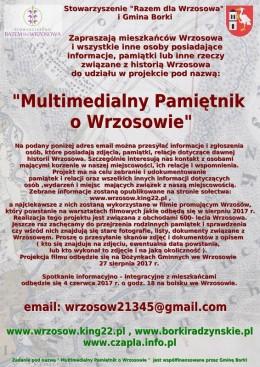 """Rozpoczynamy projekt """" Multimedialny Pamiętnik o Wrzosowie"""""""