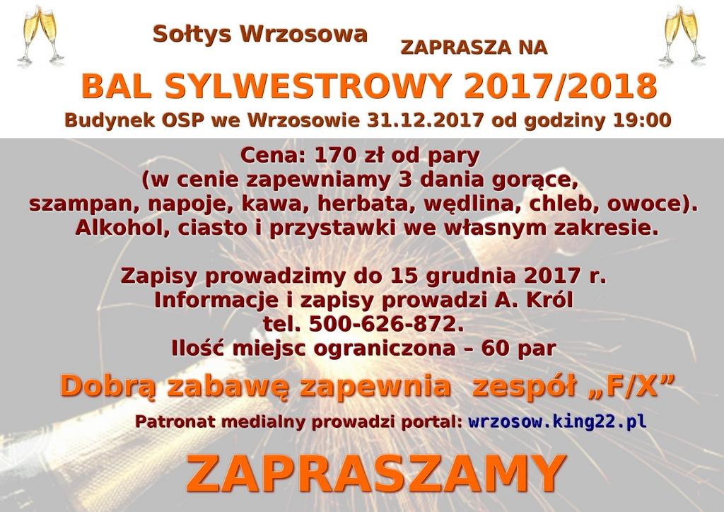Bal sylwestrowy-plakat2017m