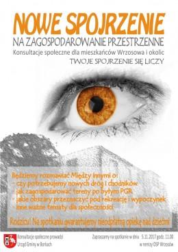 Zaproszenie na Konsultacje Społeczne we Wrzosowie  5 listopada 2017 r. od godz.11