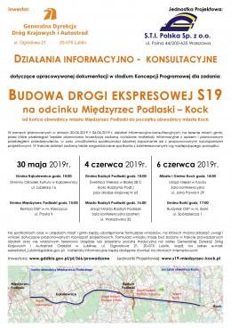 Zapraszam zainteresowanych mieszkańców Wrzosowa na spotkanie 6 czerwca 2019r. godz. 17 w Borkach (budynek OSP) dotyczące budowy drogi ekspresowej S-19