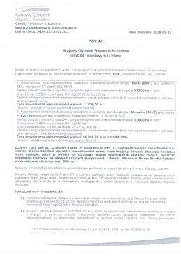 Krajowy Ośrodek Wsparcia Rolnictwa udostępnia wykaz nieruchomości do sprzedania położonych w Borkach i Wrzosowie