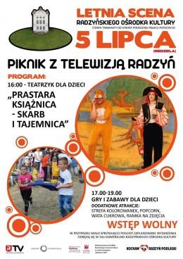 Zaproszenie na piknik dla dzieci w niedzielę 5 lipca 2020 r. w parku w Radzyniu Podlaskim od godz. 16