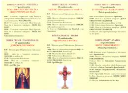 Misje Święte w Parafii Borki w dniach 17 -24 października 2021 r. – Program